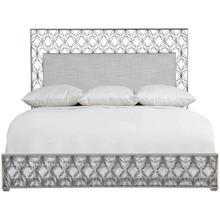 California King-Sized Cancello Upholstered Metal Bed