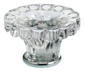 Cabinet Knob in Transparent Glass with US26 (Polished Chrome) Base Product Image