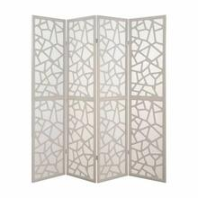 ACME Aerona 4-Panel Screen Room Divider - 98292 - White