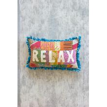 See Details - Relaxation is Calling Kantha Pillow