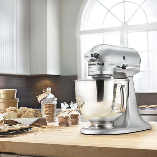 KitchenAid - Artisan® Series 5 Quart Tilt-Head Stand Mixer Silver Metallic