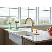 Champagne Bronze Single Handle Pull-Down Kitchen Faucet with ShieldSpray ® Technology