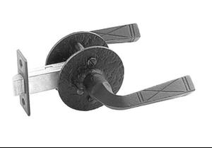 Double Lever Latch Set - Rough Iron Product Image