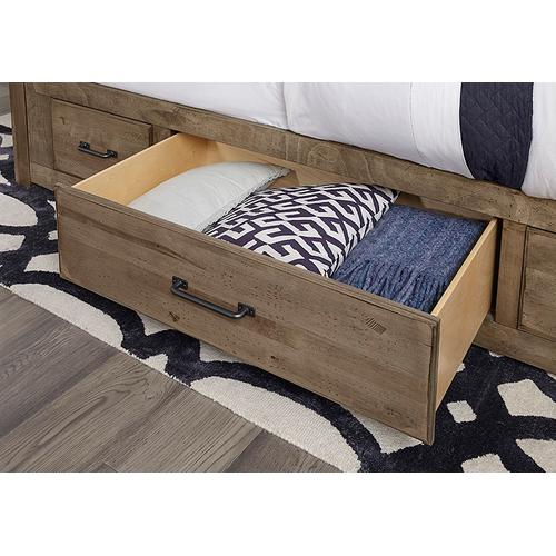 Mansion Bed with 2 Sides Storage
