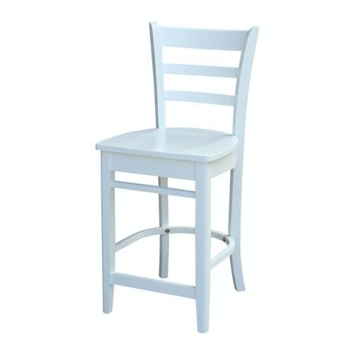 John Thomas Furniture - Emily Stool in White