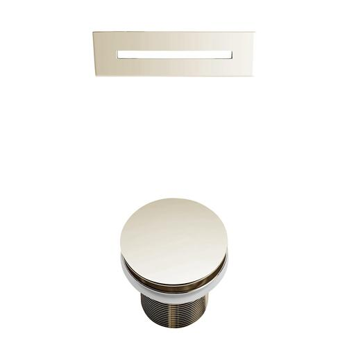"""Melanie 68"""" Acrylic Slipper Tub with Integral Drain and Overflow - Polished Nickel Drain and Overflow"""