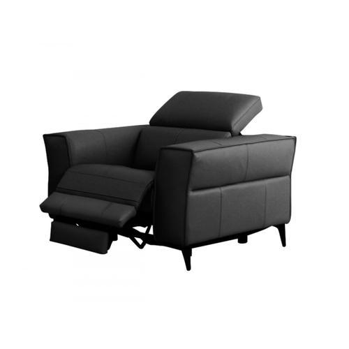 VIG Furniture - Divani Casa Nella - Modern Black Leather Armchair w/ Electric Recliner