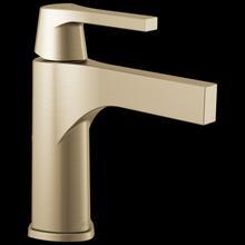 Champagne Bronze Single Handle Bathroom Faucet - Less Pop Up
