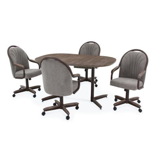 All Wood Furniture - Douglas Extension Table with Tilt Swivel Chairs