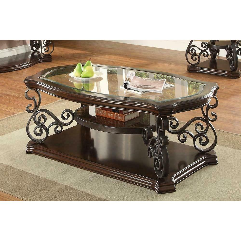 See Details - Occasional Traditional Dark Brown Coffee Table