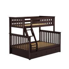 See Details - Twin/Full Bunk + Trundle Storage Espresso