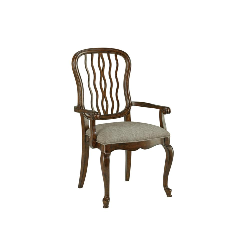 Carved Back Dining Arm Chair
