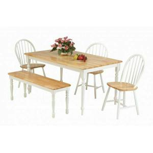 ACME Farmhouse Dining Table - 02247NW - Natural & White