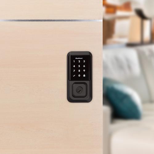 Kwikset - Halo Touchscreen Wi-Fi Enabled Smart Lock - Matte Black