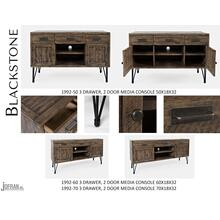 "Blackstone 60"" 3 Drawer, 2 Door Media Console"