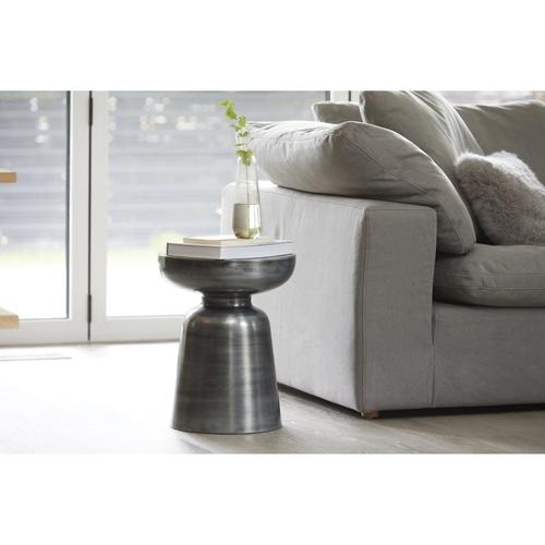 Moe's Home Collection - Clay Corner Chair Livesmart Fabric Light Grey