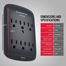 See Details - Monster Wall Tap Surge Protector - Power Surge Pro