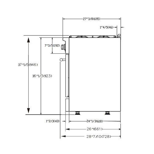 "Forno - GALIANO - Gold Professional 48"" Freestanding Gas Range"