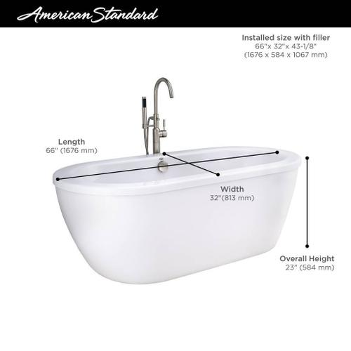 American Standard - Cadet Freestanding Tub - A relaxing, deep soak with beautiful style.  American Standard - Arctic White
