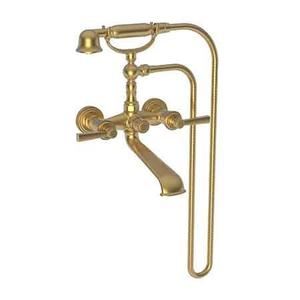 Satin Gold - PVD Exposed Tub & Hand Shower Set - Wall Mount