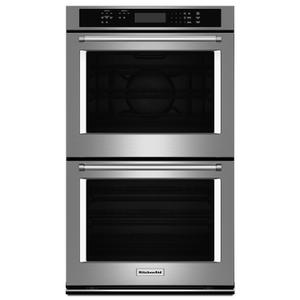 """KitchenAid27"""" Double Wall Oven with Even-Heat™ True Convection (Upper Oven) Stainless Steel"""