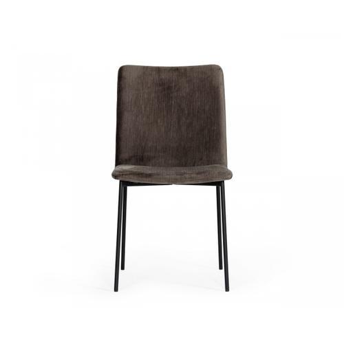 VIG Furniture - Modrest Maggie - Modern Black and Brown Dining Chair (Set of 2)