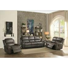 ACME Barnaby Loveseat (Motion), Gray Polished Microfiber - 52881