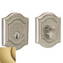 Satin Brass and Brown Bethpage Deadbolt
