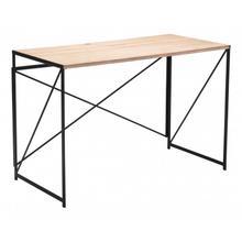 See Details - Yazmine Desk Natural & Black