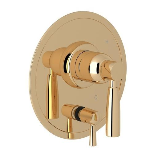 English Gold Perrin & Rowe Holborn Pressure Balance Trim With Diverter with Holborn Metal Lever