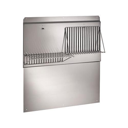 "Broan - 54"" Backsplash with shelves in Stainless Steel"