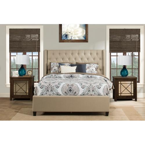 Gallery - Churchill King Bed - Linen Sandstone