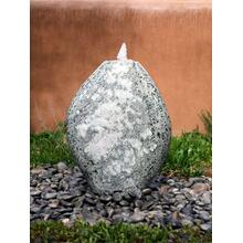 Garden Fountain: Medium Pebble Fountain, D Style Green Marble