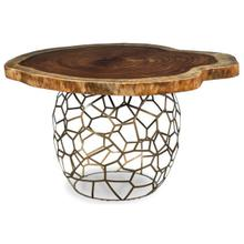 "Live Edge 30"" Dining Height Cracked Ice Urn Base (base Only)"