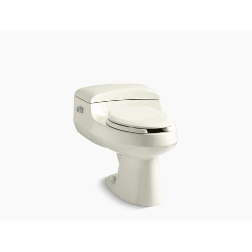 Biscuit One-piece Elongated Chair Height Toilet