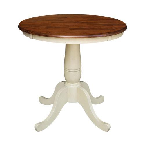 John Thomas Furniture - 30'' Pedestal Espresso/Almond