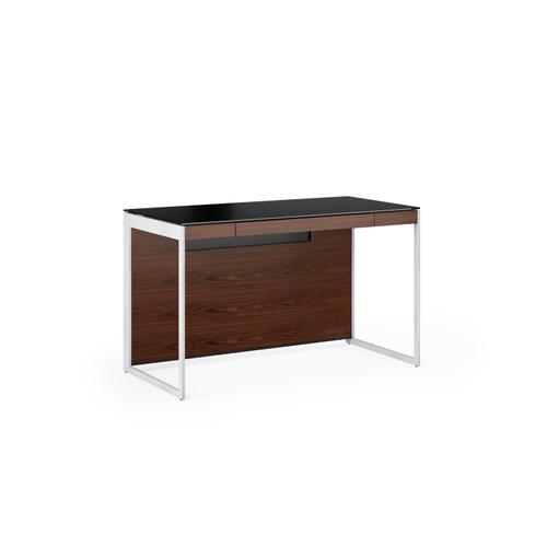 BDI Furniture - Sequel 20 6103 Compact Desk in Chocolate Walnut Satin Nickel