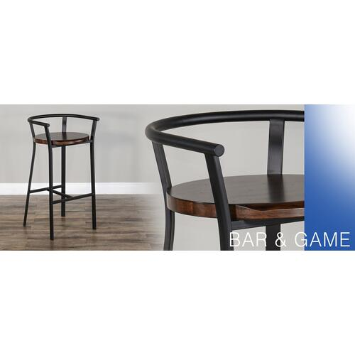 "Sunny Designs - 30""H Barstool, Wood Seat"