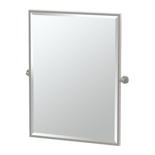Latitude2 Framed Rectangle Mirror in Matte Black