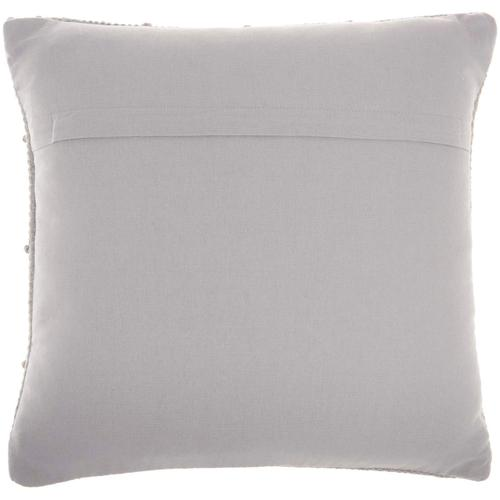 "Life Styles Gc104 Light Grey 18"" X 18"" Throw Pillow"