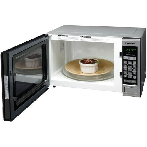 Panasonic - Family Size 1.2 Cu. Ft. Countertop Microwave Oven with Inverter Technology