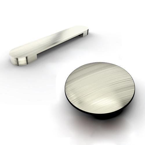 """Verron 69"""" Acrylic Tub with Integral Drain and Overflow - Brushed Nickel Drain and Overflow"""