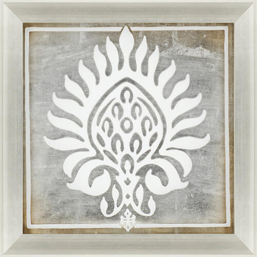 Brocade in White II