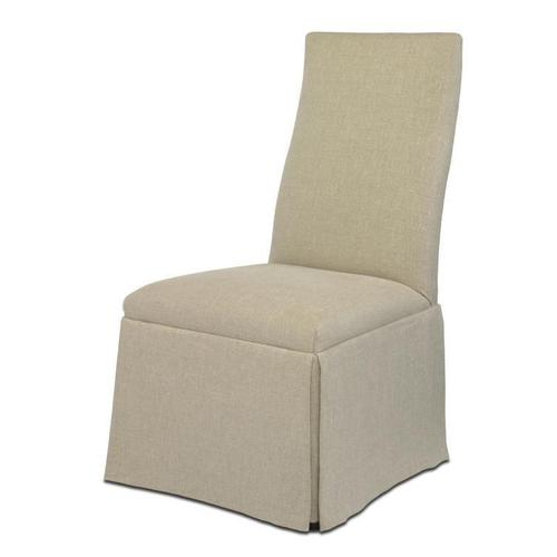 Chandler Curved Back With Straight Top Chair With Casters