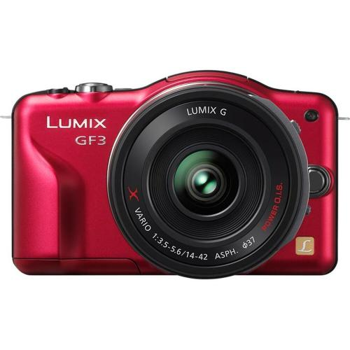 LUMIX® GF3X 12.1 Megapixel Compact System Camera [3X] Premium X Series 14-42mm Power Zoom Lens Kit