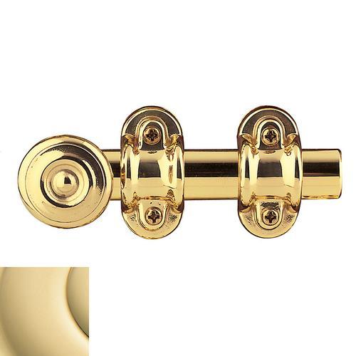 Baldwin - Non-Lacquered Brass Ornamental Heavy Duty Surface Bolt