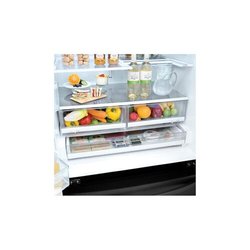 "36"" Matte Black French Door Refrigerator With Door-in-door®, 28 CU.FT."