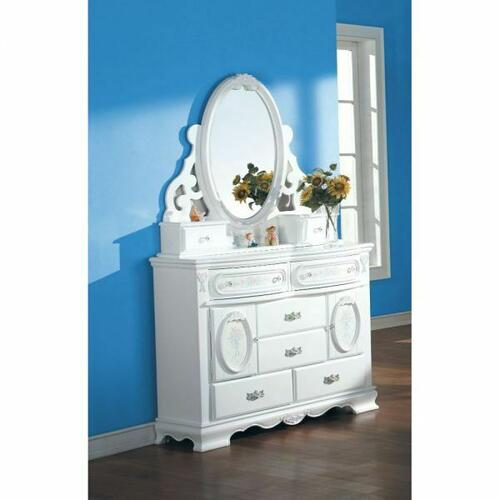 ACME Flora Jewelry Mirror - 01664 - White