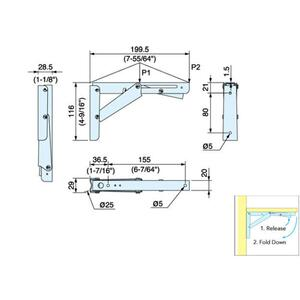 Stainless Steel Folding Bracket