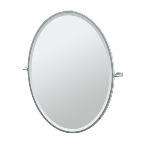 Bleu Framed Oval Mirror in Chrome